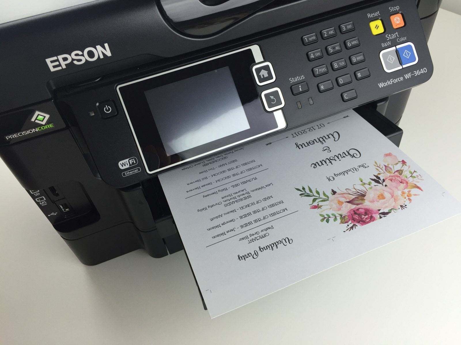 printing your program template front and back