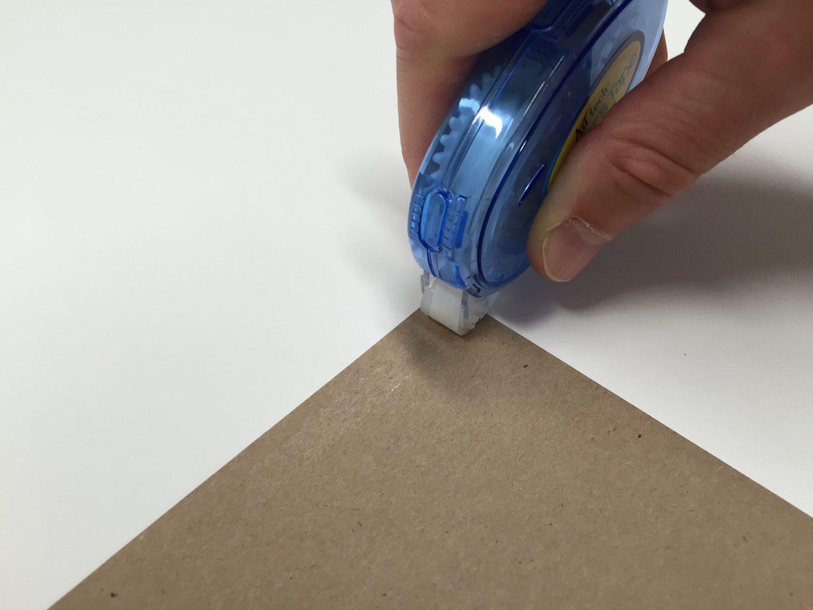 Using glue tape