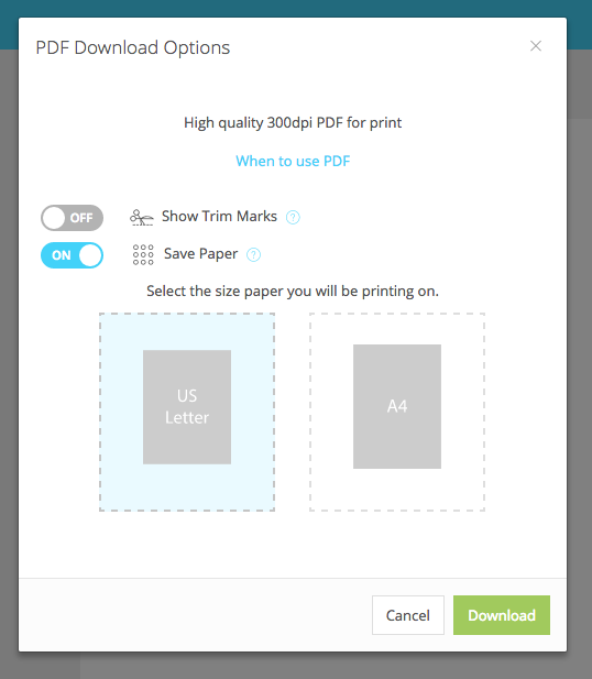 Save Paper Feature