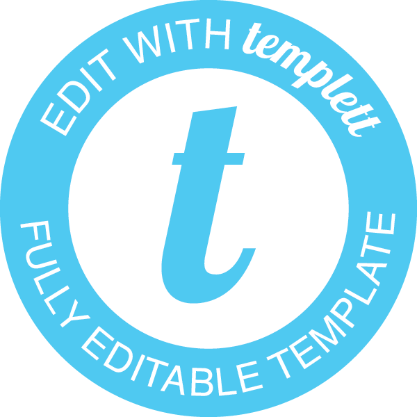 Edit with Templett badge